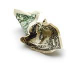 crinkled money poster