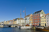 Nyhavn colorful buildings at Copenhagen poster