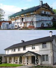 Isolierung eines Hauses