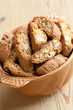 italian cantuccini cookies in bowl