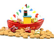 Traditional dutch culture: steamboat from santa claus