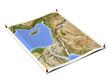 Palestine on unfolded map sheet.