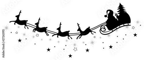 weihnachten rentiere schlitten christmas vector. Black Bedroom Furniture Sets. Home Design Ideas