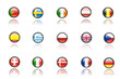 Nice icons of european flags