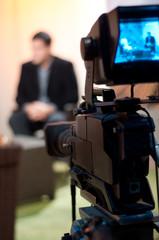 Talk show - focus on camera