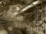 Abstract business background, in sepia