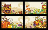 Vector set of decorative autumnal cards. Design elements 2