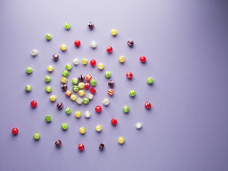 spiral of vibrant hard candy