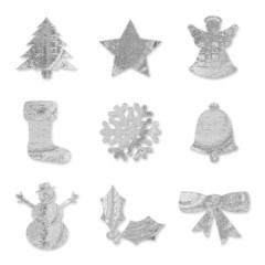 Festive Symbols - Silver Metallic