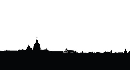 rome skyline vector silhouette isolated
