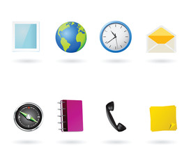 vector mobile phone application icons
