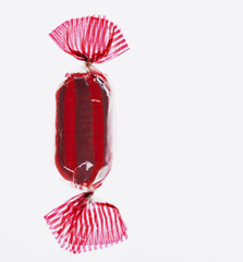 close up of wrapped hard candy