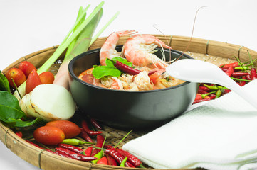 Tom Yam kum - Thai Spicy Shrimp Soup