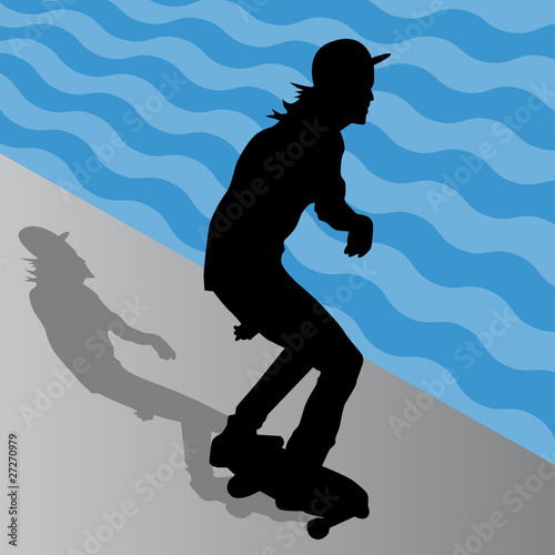 Male Skateboarder