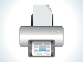 abstract glossy printer icon