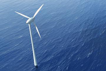 Windkraftrad im Wasser