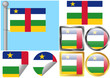 Flag Set Central African Republic