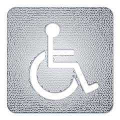Metallic Wheelchair Symbol