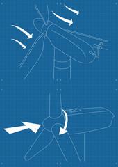 Windmill alternative energy generator blueprint