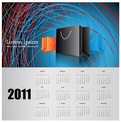 modern calendar for 2011.