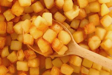 Dés de pomme de terre