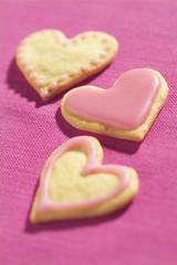 Biscuits en forme de coeur