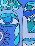 occhi astratti