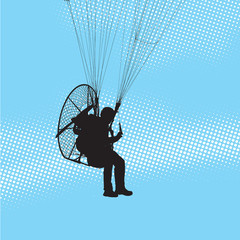 Paraglider and paramotor