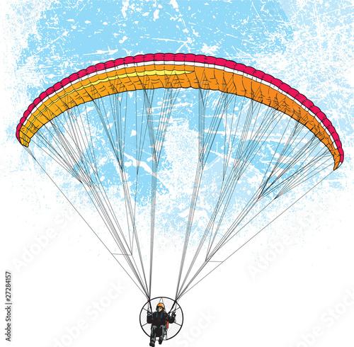 Fototapeta Parachutist flight