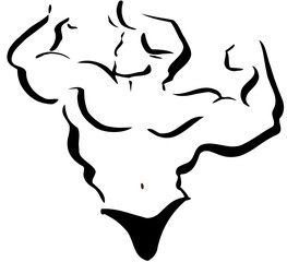 Bodybuilder stilisiert Logo