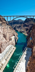 Hoover Dam Vertical Panorama