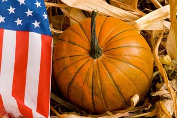 Patriotic American Pumpkin