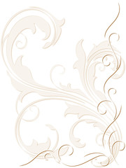 Abstract backdrop with swirly decoration
