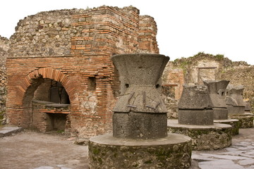 Ruins of Pompeii: the bakery