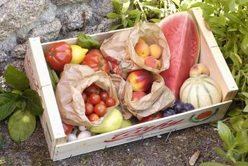 Cagette de fruits et légumes