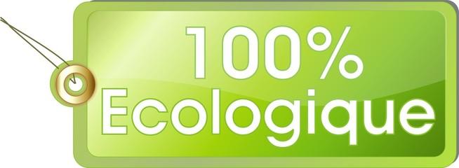 étiquette 100% écologique