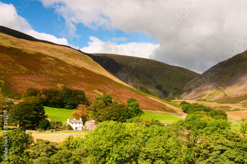 Landscape near Sedbergh in Great Britain