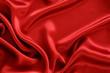 Red silk textile