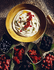 Fromage blanc with summer fruit