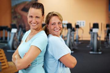 Anlehnen im Fitnesscenter