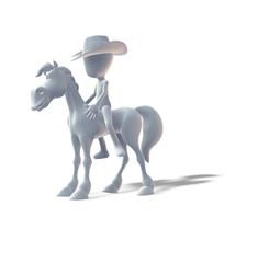 Reituntericht, Pferd, Cowboy