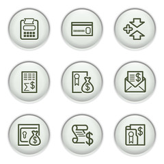 Gray icon with button 14