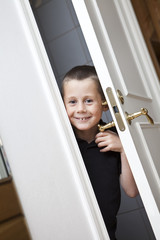 Little Boy by the door
