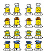 cartoon emoticons - jobs