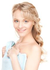 lovely woman in towel