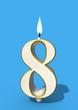 eighth birthday eight candle