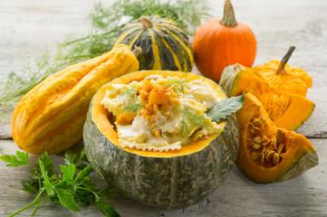 pumpkin ravioli-ravioli di zucca