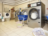 Commercial laundry interior