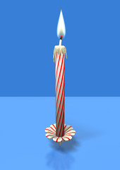 red stripes candle