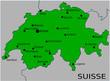 Carte des Villes Principales de Suisse